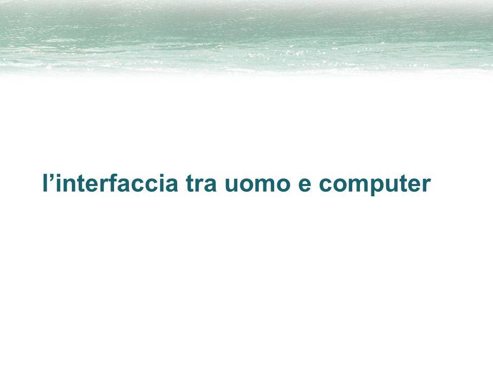 linterfaccia tra uomo e computer