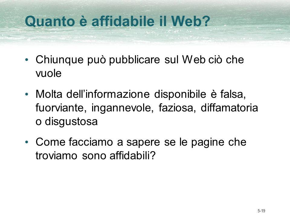 5-19 Quanto è affidabile il Web.