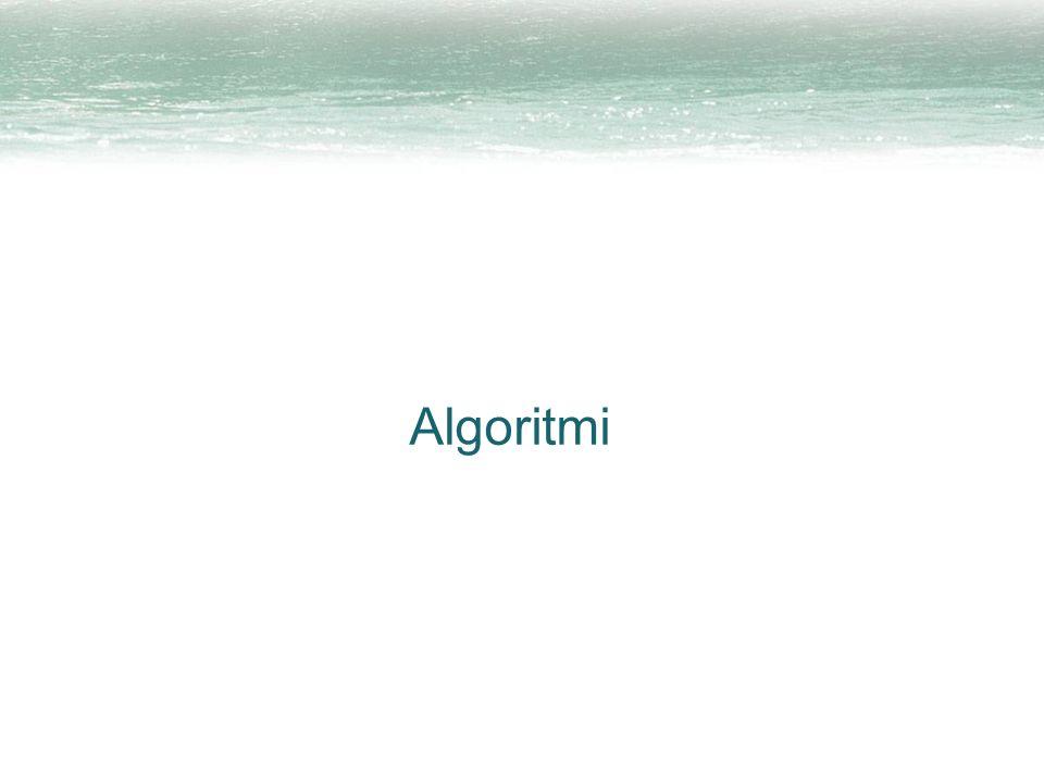 2 Algoritmo Un metodo preciso e sistematico per ottenere uno specifico risultato Ne abbiamo già incontrati diversi: –riconoscimento del clic di un pulsante –la tecnica del segnaposto –conversione esadecimale/binario e viceversa