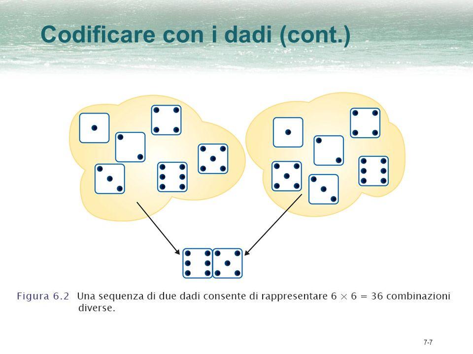 7-7 Codificare con i dadi (cont.)
