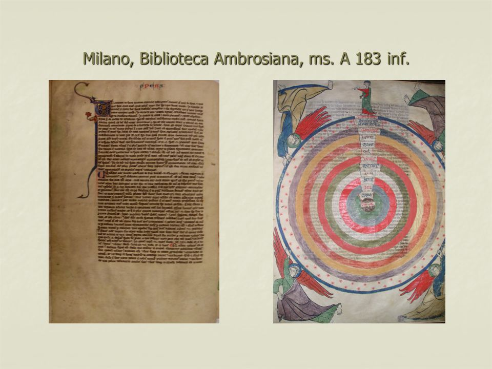 Milano, Biblioteca Ambrosiana, ms. A 183 inf.