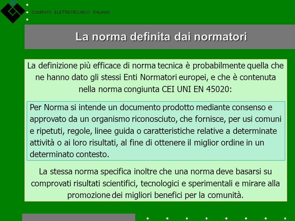 COMITATO ELETTROTECNICO ITALIANO A regola darte