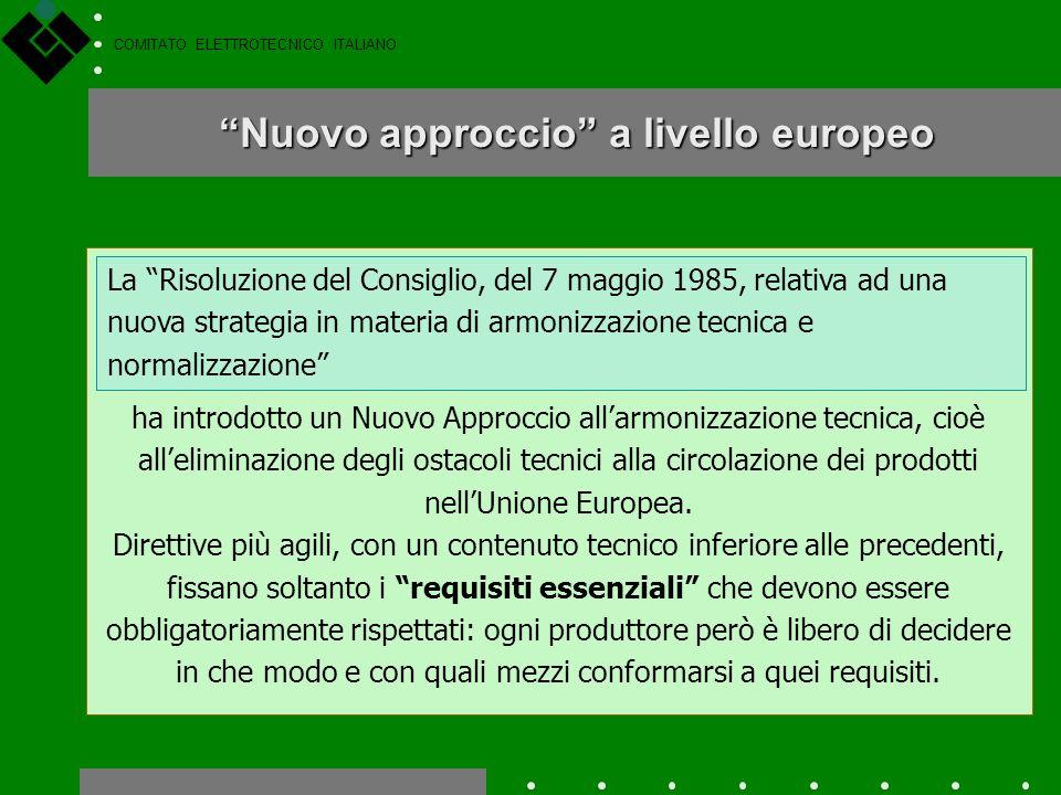 COMITATO ELETTROTECNICO ITALIANO Legge n. 46 del 1990 Alcune norme e guide tecniche del CEI sono citate in dispositivi di legge e la loro applicazione
