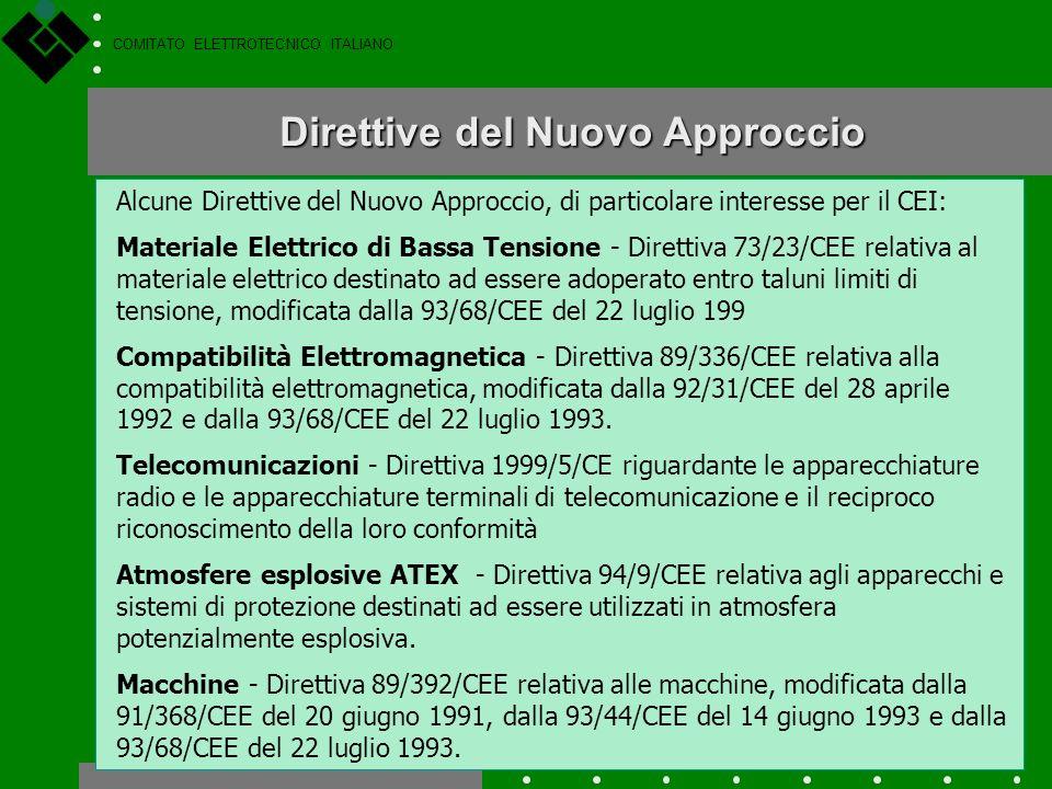 COMITATO ELETTROTECNICO ITALIANO E il simbolo grafico che attesta la conformità del prodotto ai requisiti essenziali delle Direttive applicabili a que