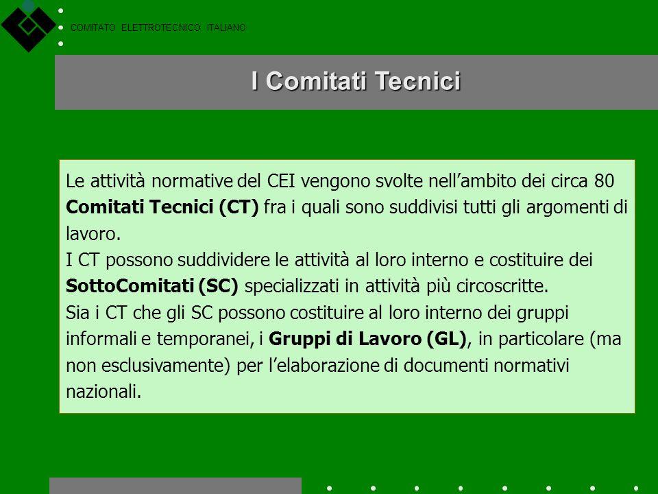 COMITATO ELETTROTECNICO ITALIANO Lavori normativi