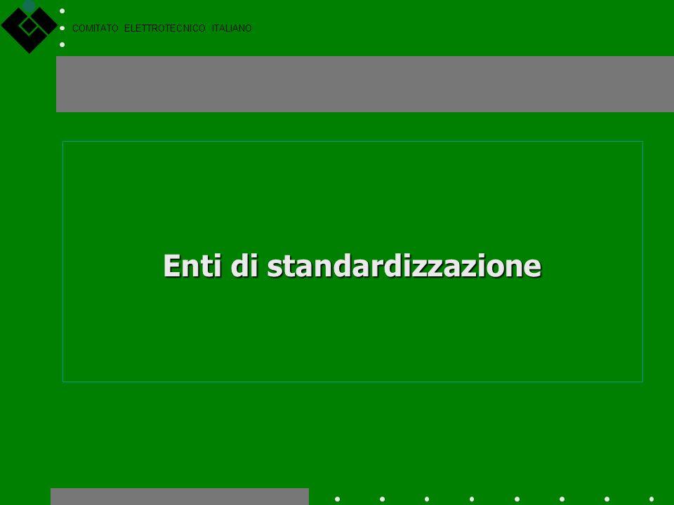 COMITATO ELETTROTECNICO ITALIANO Argomenti Enti di standardizzazione Il CEI e la struttura normativa mondiale A regola darte Le norme tecniche. Il Nuo