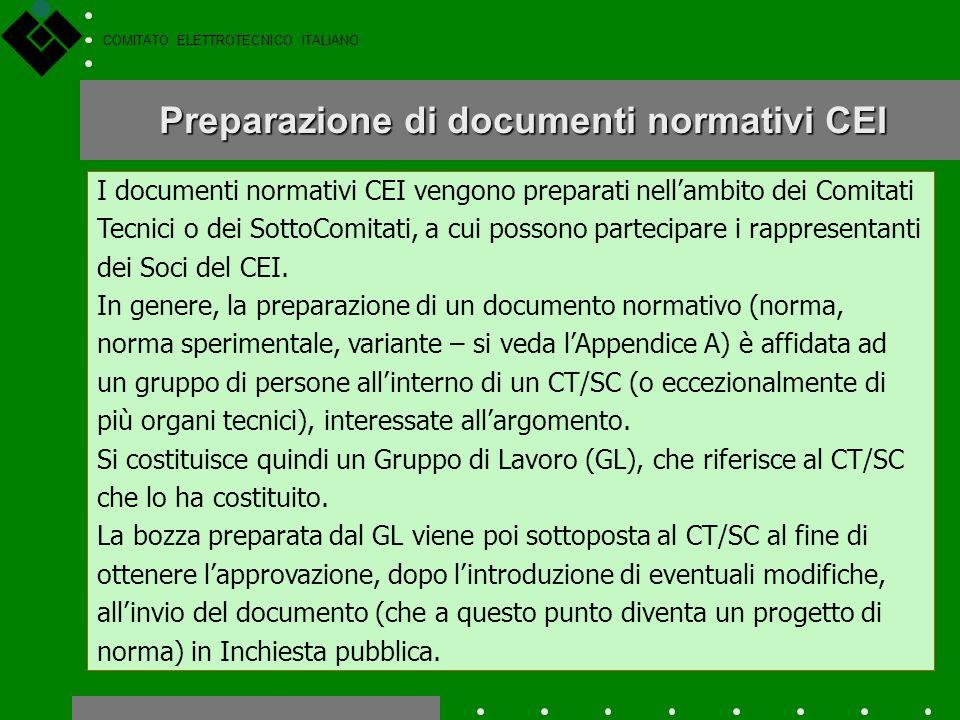 COMITATO ELETTROTECNICO ITALIANO Il livello nazionale
