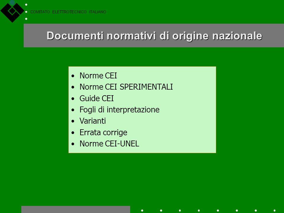 COMITATO ELETTROTECNICO ITALIANO Gli scopi di questa procedura sono i seguenti: Procedura di Vilamoura - 2 evitare che un Comitato Nazionale (es. il C