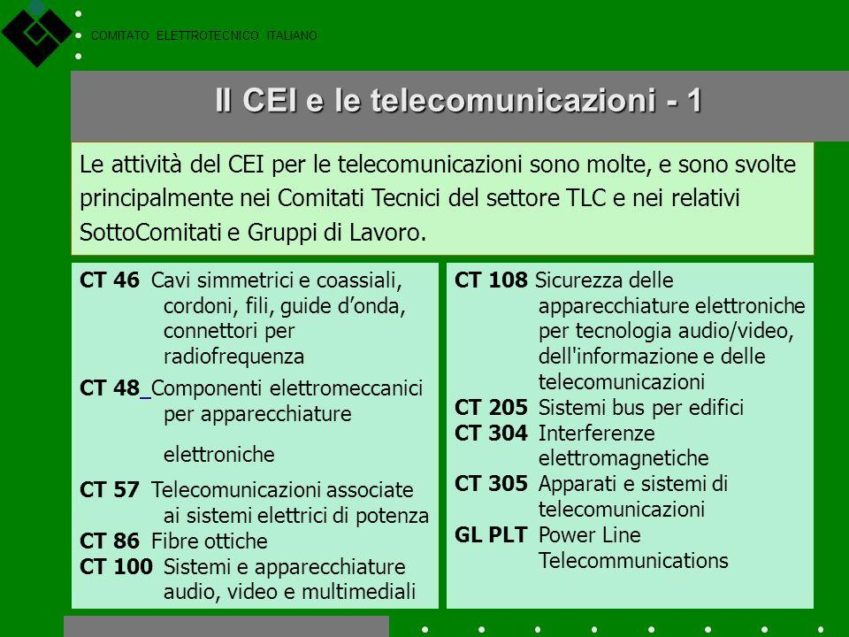 COMITATO ELETTROTECNICO ITALIANO Il CEI e il cablaggio strutturato