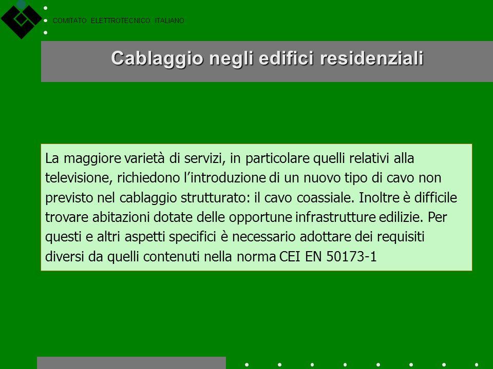COMITATO ELETTROTECNICO ITALIANO Nel 1995 è stata pubblicata la prima norma internazionale, la ISO/IEC 11801