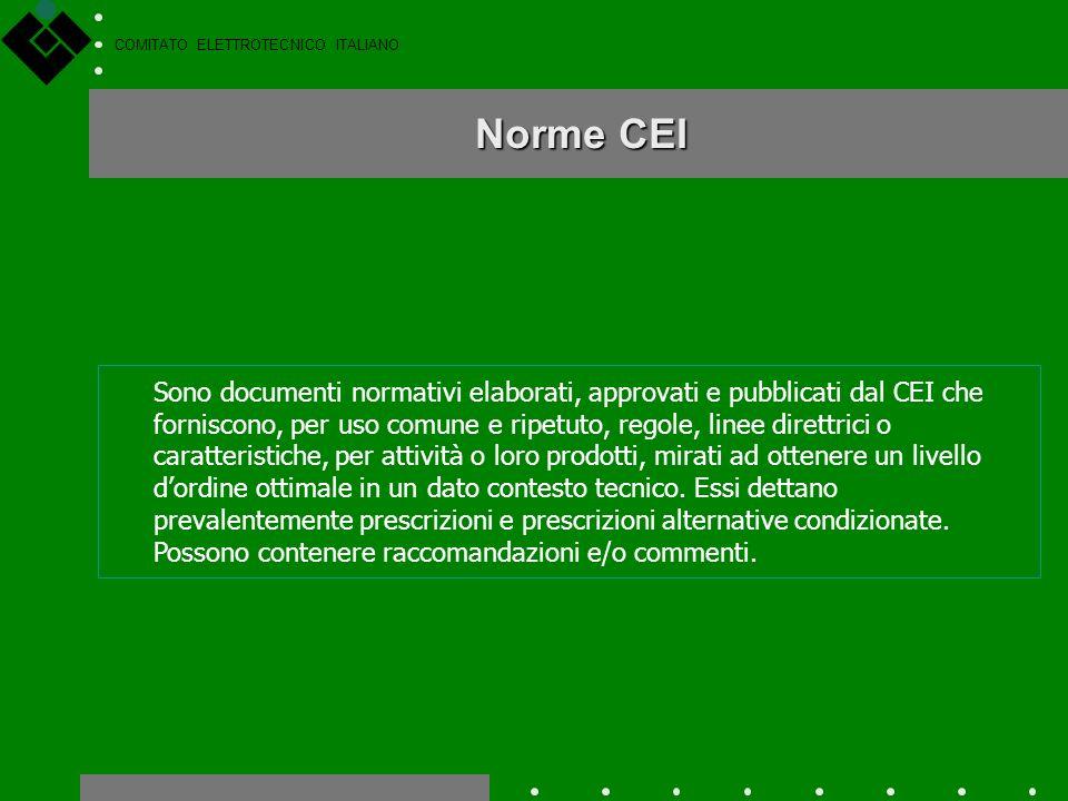 COMITATO ELETTROTECNICO ITALIANO Appendice A I documenti normativi