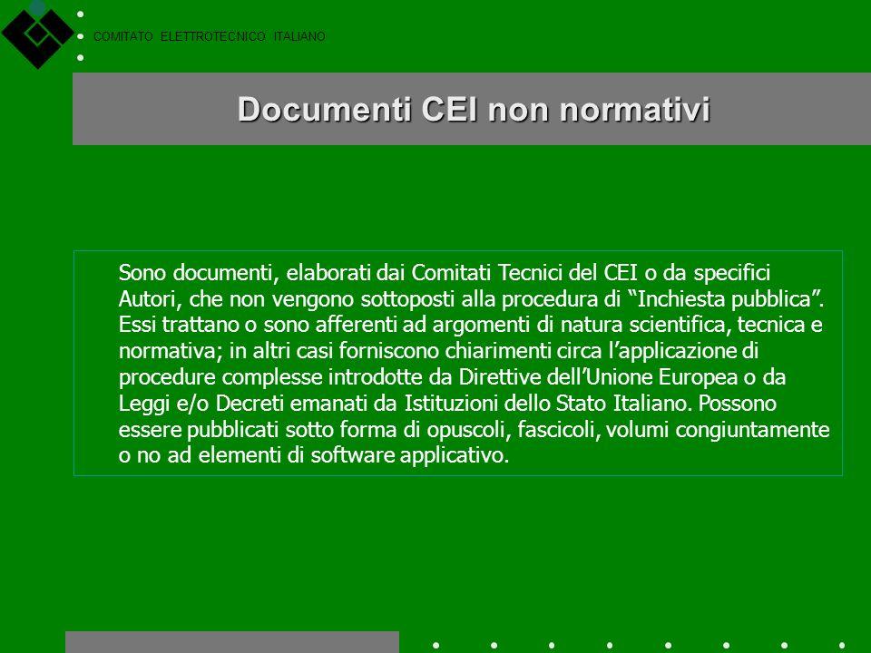 COMITATO ELETTROTECNICO ITALIANO Classificazione dei documenti nazionali CEI 11-4 CEI 64-8/1 Le norme CEI, le norme sperimentali e le guide tecniche h