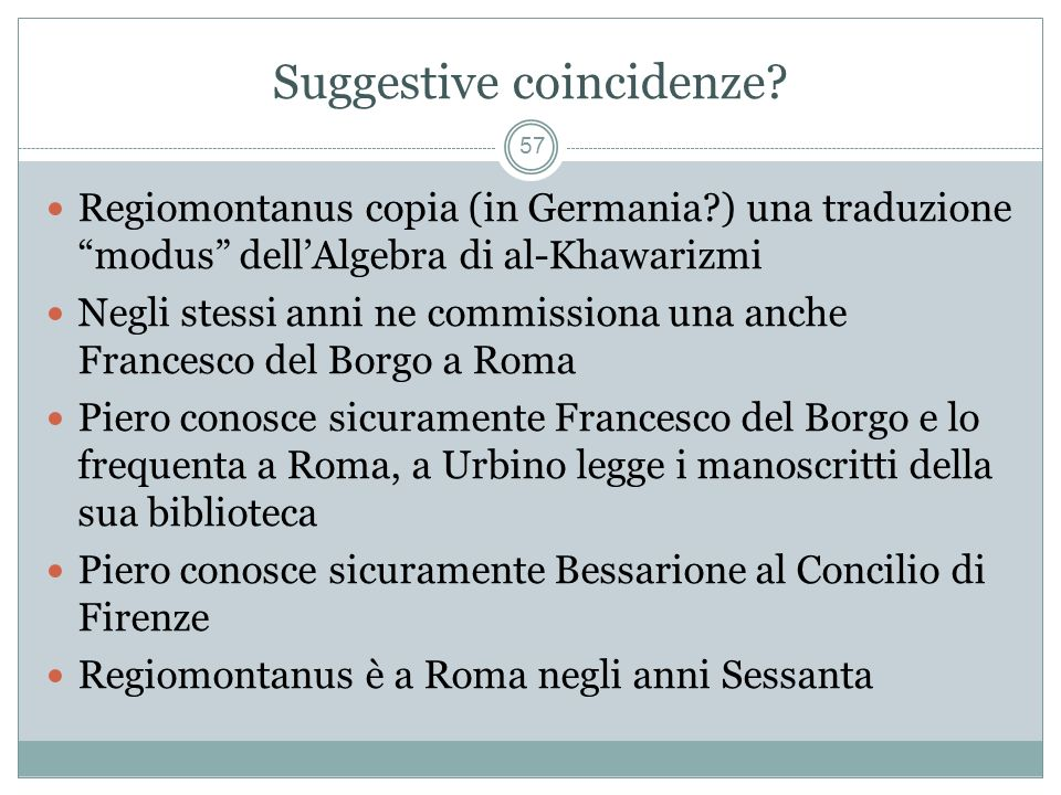 Suggestive coincidenze.