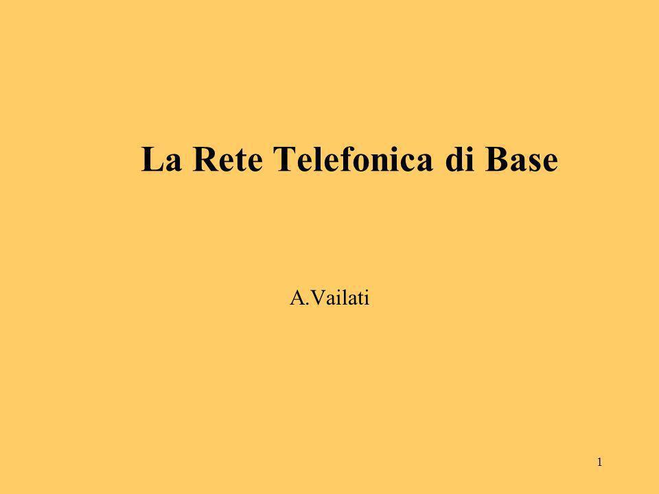 1 La Rete Telefonica di Base A.Vailati