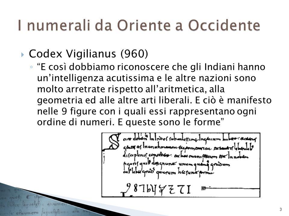 Codex Vigilianus (960) E così dobbiamo riconoscere che gli Indiani hanno unintelligenza acutissima e le altre nazioni sono molto arretrate rispetto al