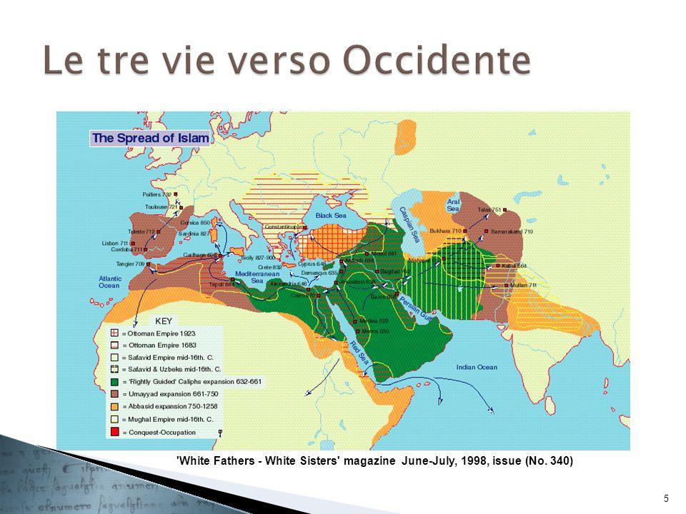 DallIfriqiya (Tunisia, Algeria orientale e Tripolitania) alla Sicilia e alla scuola di Salerno (soprattutto medicina con traduttori come Costantino lAfricano); Sicilia e Italia meridionale; si sviluppa grazie alla tolleranza e all interesse culturale dei re normanni, degli Svevi e degli Angioini alla corte di Ruggero II le tre culture e le tre lingue godevano di uguale considerazione ed anzi gli uffici amministrativi del regno avevano una tripla cancelleria; gli scribi di quella araba (il Diwan) si erano formati, per quanto riguardava la lingua, in Egitto o in zone del Mediterraneo orientale.