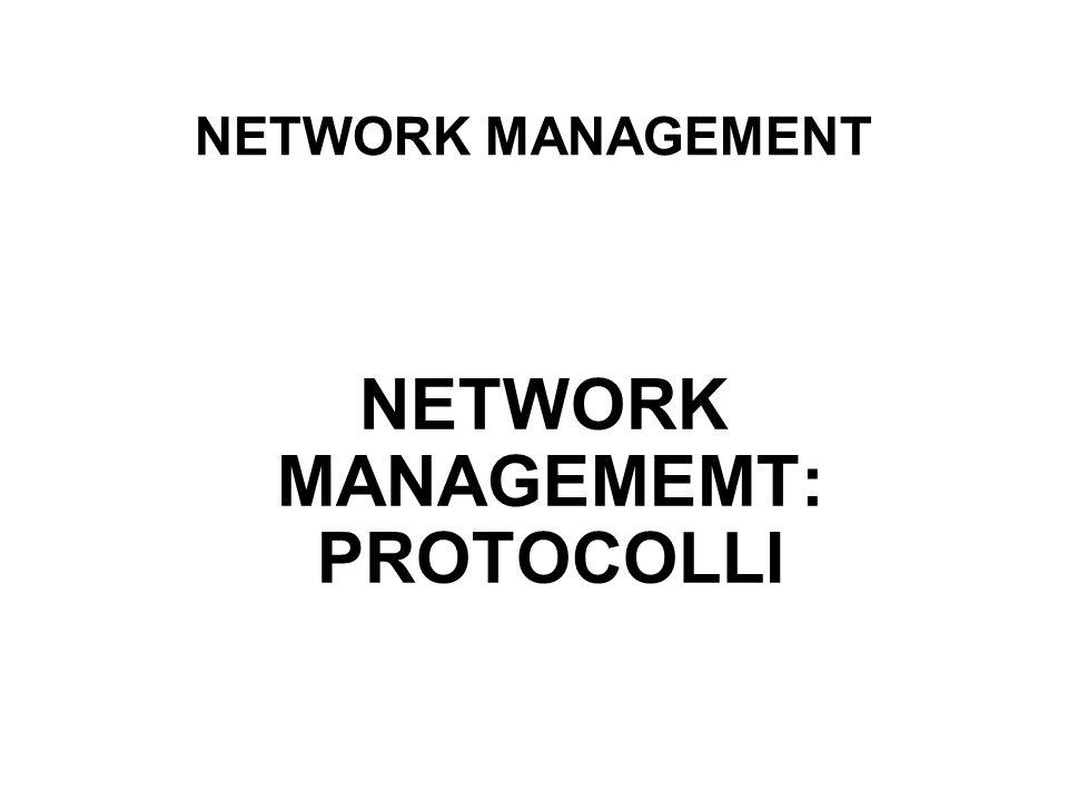 NETWORK MANAGEMENT NETWORK MANAGEMEMT: PROTOCOLLI