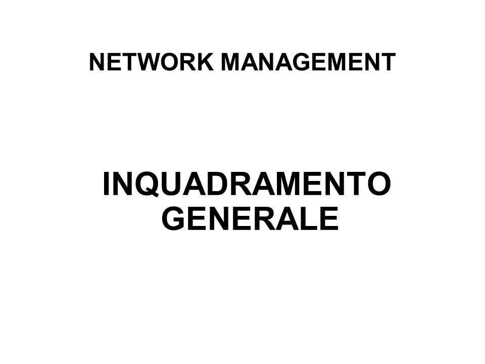NETWORK MANAGEMENT INQUADRAMENTO GENERALE