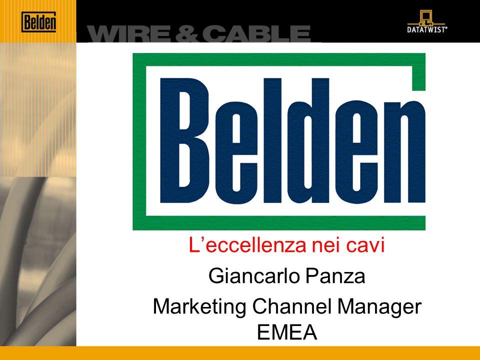 Belden Leccellenza nei cavi Giancarlo Panza Marketing Channel Manager EMEA