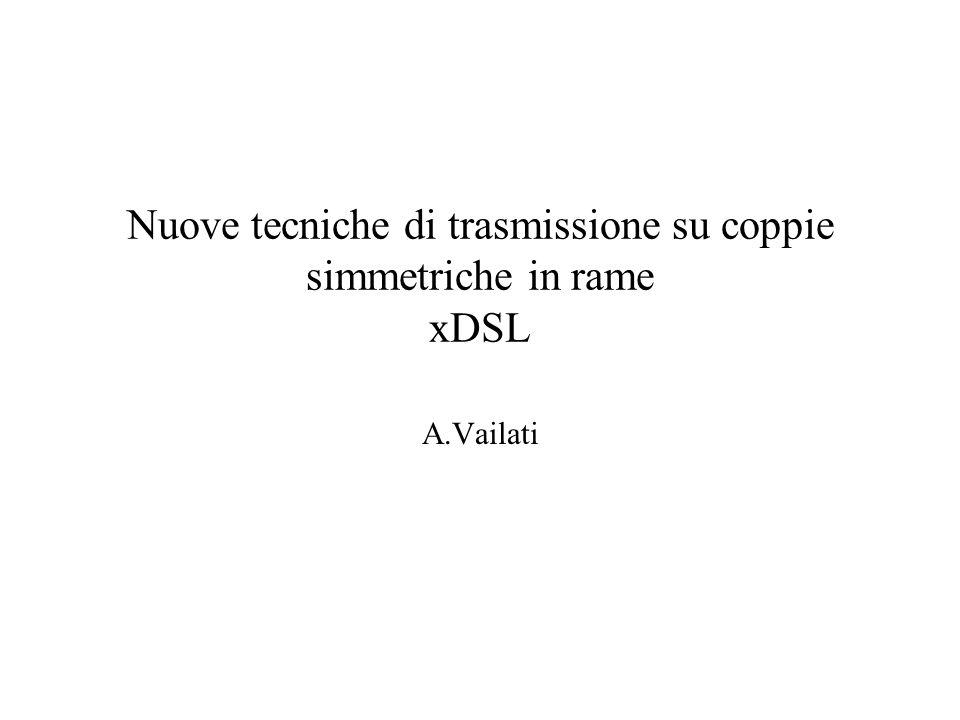 Nuove tecniche di trasmissione su coppie simmetriche in rame xDSL A.Vailati