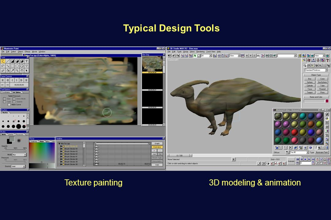 Texture painting3D modeling & animation Typical Design Tools