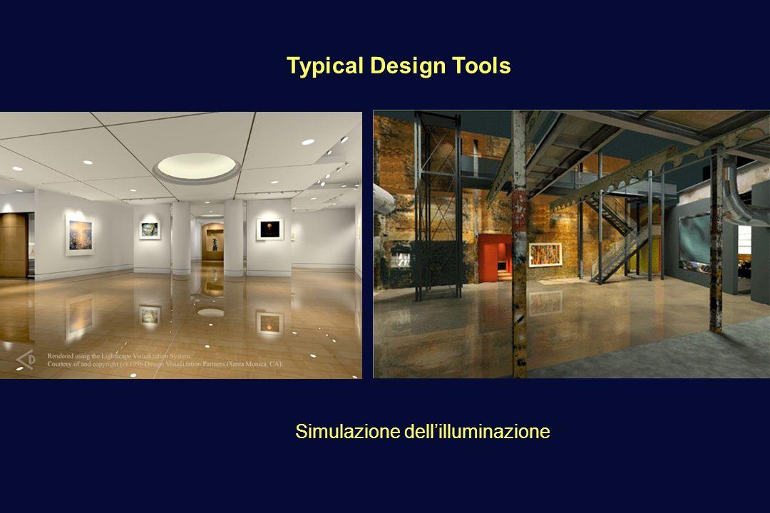 Typical Design Tools Simulazione dellilluminazione