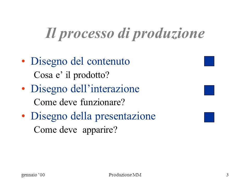 gennaio 00Produzione MM13 Es: benefici aziendali - 2 Contenuto Strutturare un esistente manuale cartaceo.