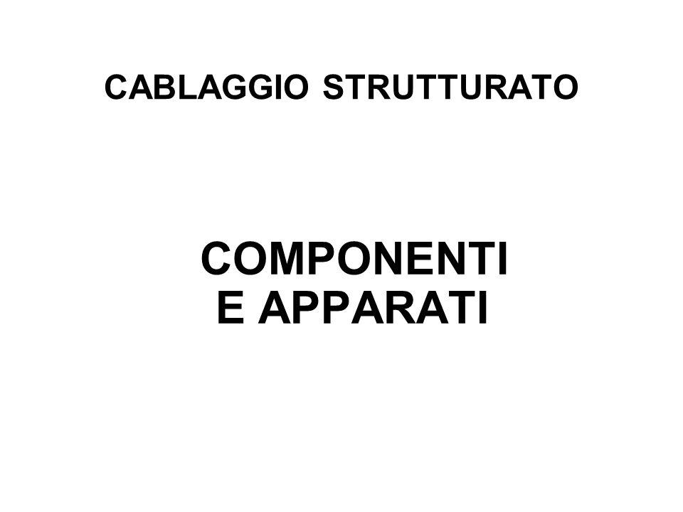 CABLAGGIO STRUTTURATO COMPONENTI E APPARATI