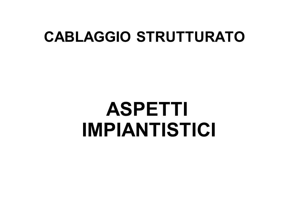 CABLAGGIO STRUTTURATO ASPETTI IMPIANTISTICI