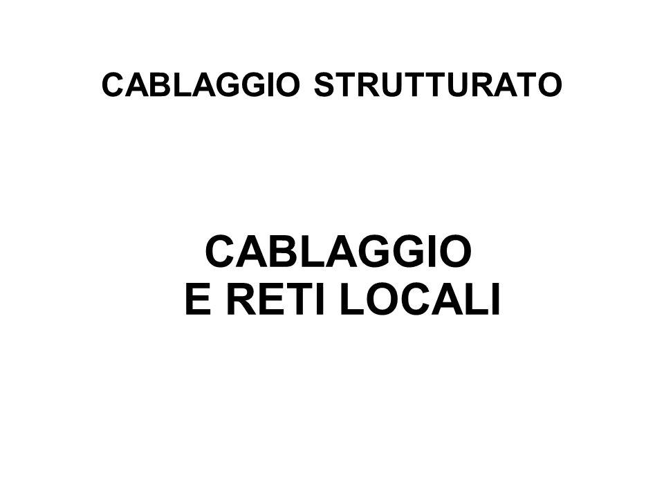 CABLAGGIO STRUTTURATO CABLAGGIO E RETI LOCALI