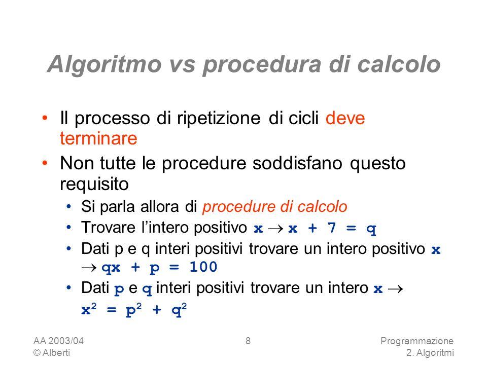 AA 2003/04 © Alberti Programmazione 2.
