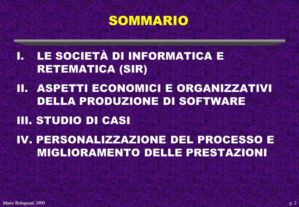 p. 53Mario Bolognani 2000 Modello di qualità della fabbrica del software vista da un cliente