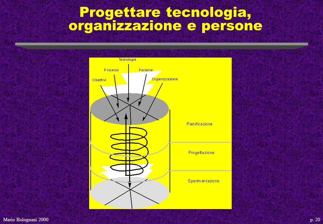 p. 20Mario Bolognani 2000 Progettare tecnologia, organizzazione e persone