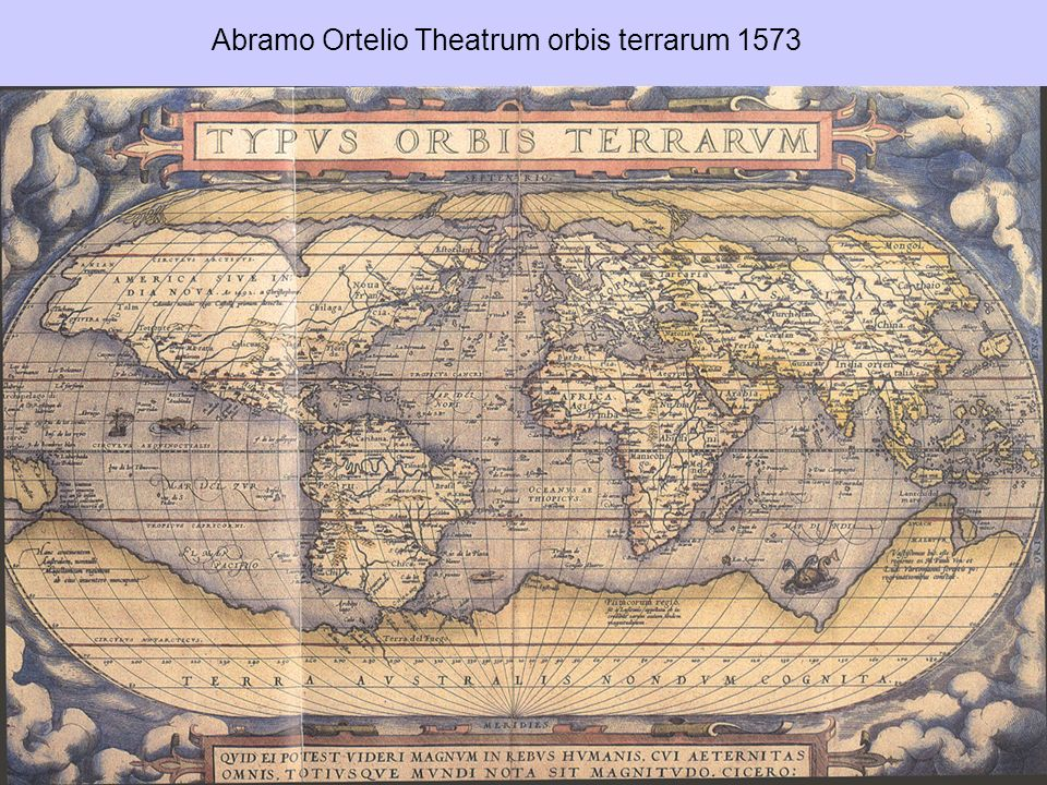 Abramo Ortelio Theatrum orbis terrarum 1573
