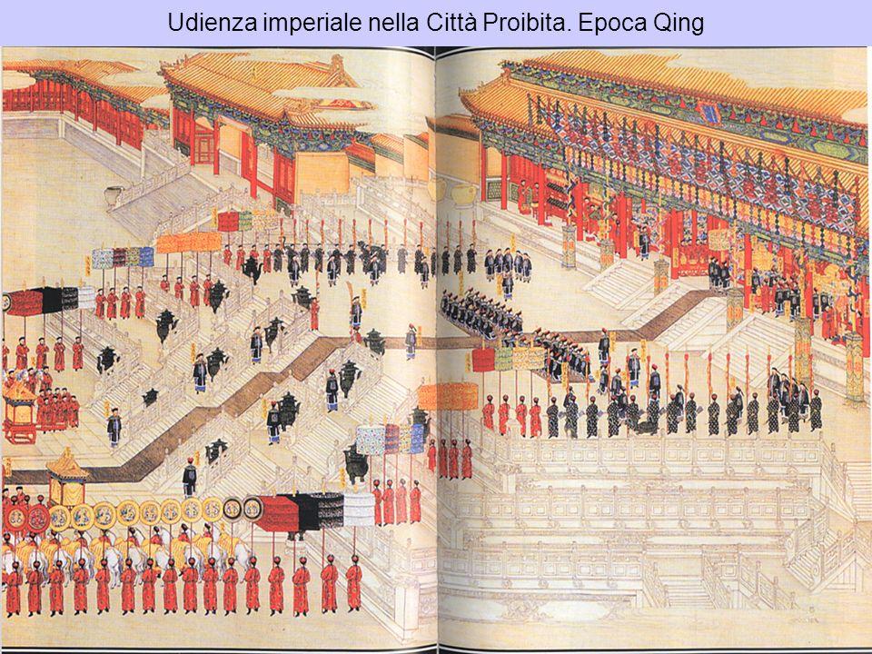 Udienza imperiale nella Città Proibita. Epoca Qing