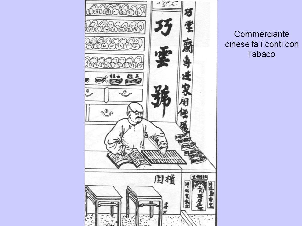 Commerciante cinese fa i conti con labaco