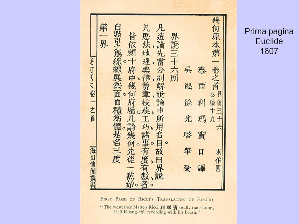 Prima pagina Euclide 1607