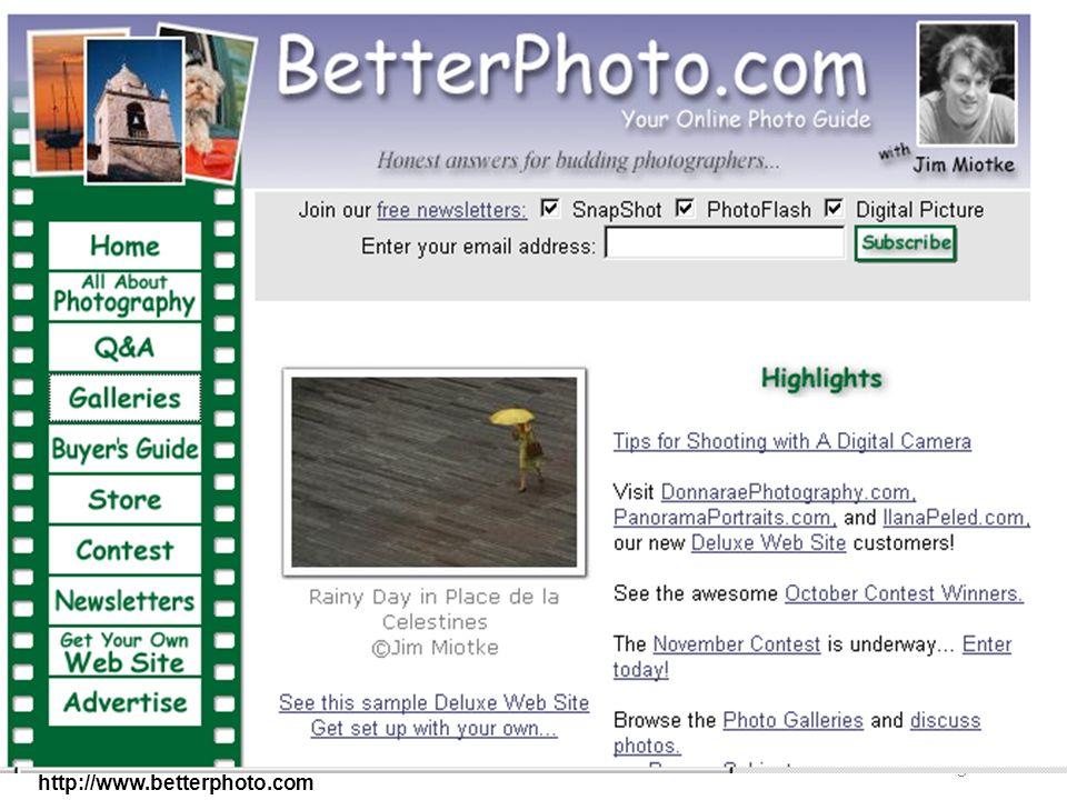 AA 2003/04Sistemi multimediali Gli artefatti digitali 23 http://www.betterphoto.com