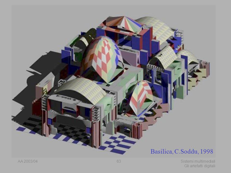 AA 2003/04Sistemi multimediali Gli artefatti digitali 63 Basilica, C.Soddu, 1998