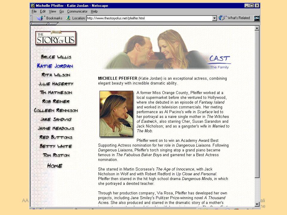 AA 2004/05Sistemi multimediali Navigazione 33