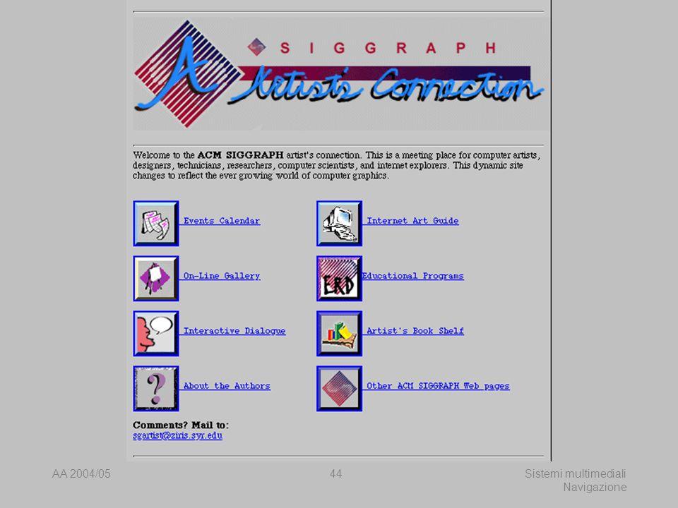 AA 2004/05Sistemi multimediali Navigazione 43