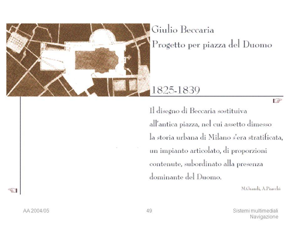 AA 2004/05Sistemi multimediali Navigazione 48