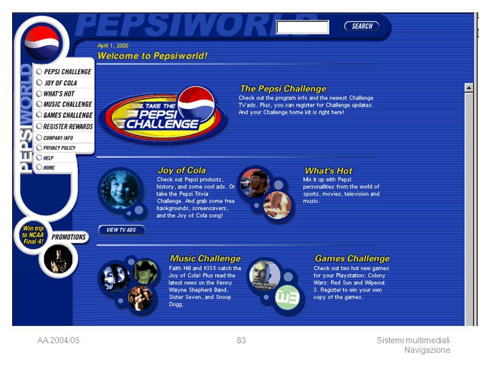 AA 2004/05Sistemi multimediali Navigazione 82