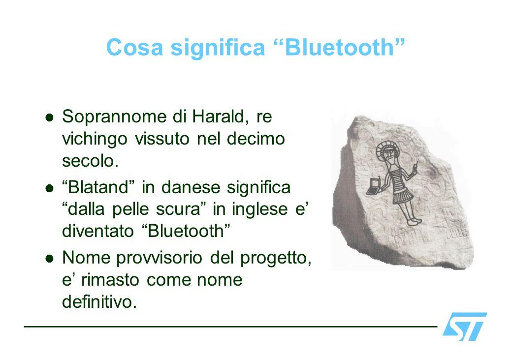 Cosa significa Bluetooth Soprannome di Harald, re vichingo vissuto nel decimo secolo. Blatand in danese significa dalla pelle scura in inglese e diven