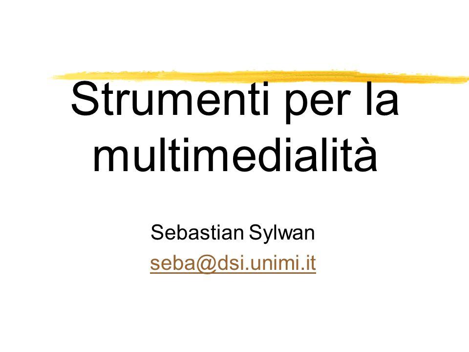Strumenti per la multimedialità Sebastian Sylwan seba@dsi.unimi.it