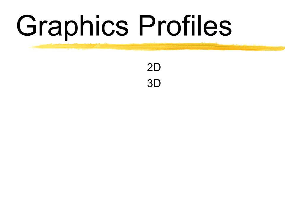 Graphics Profiles 2D 3D
