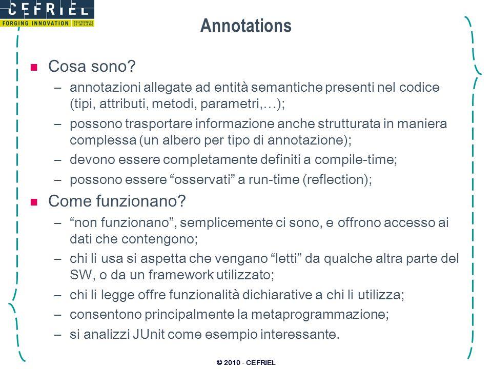 © 2010 - CEFRIEL Annotations Cosa sono.