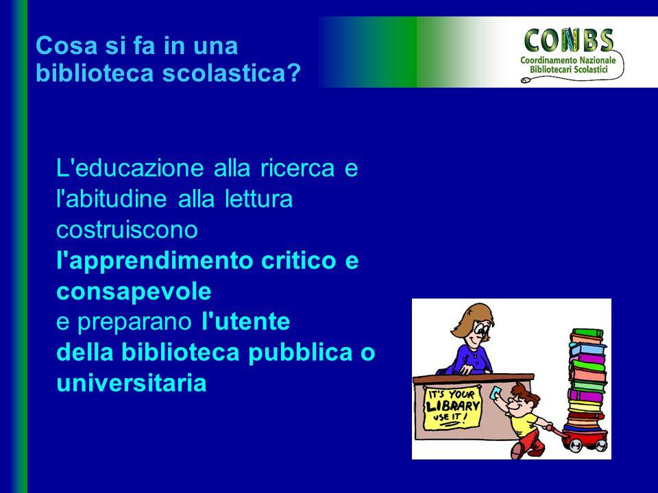 Cosa si fa in una biblioteca scolastica? L'educazione alla ricerca e l'abitudine alla lettura costruiscono l'apprendimento critico e consapevole e pre