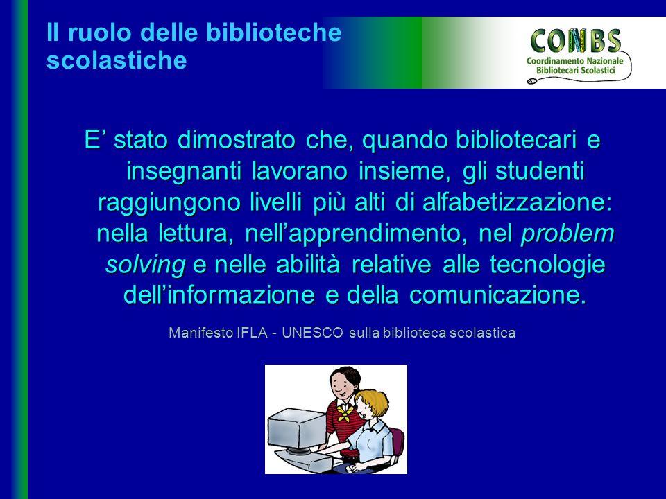 Non biblioteca ma biblioteche Le BS sono diverse: per ordine di scuola per mission (animazione della lettura, educazione alla ricerca) per sensibilità e progettualità investite