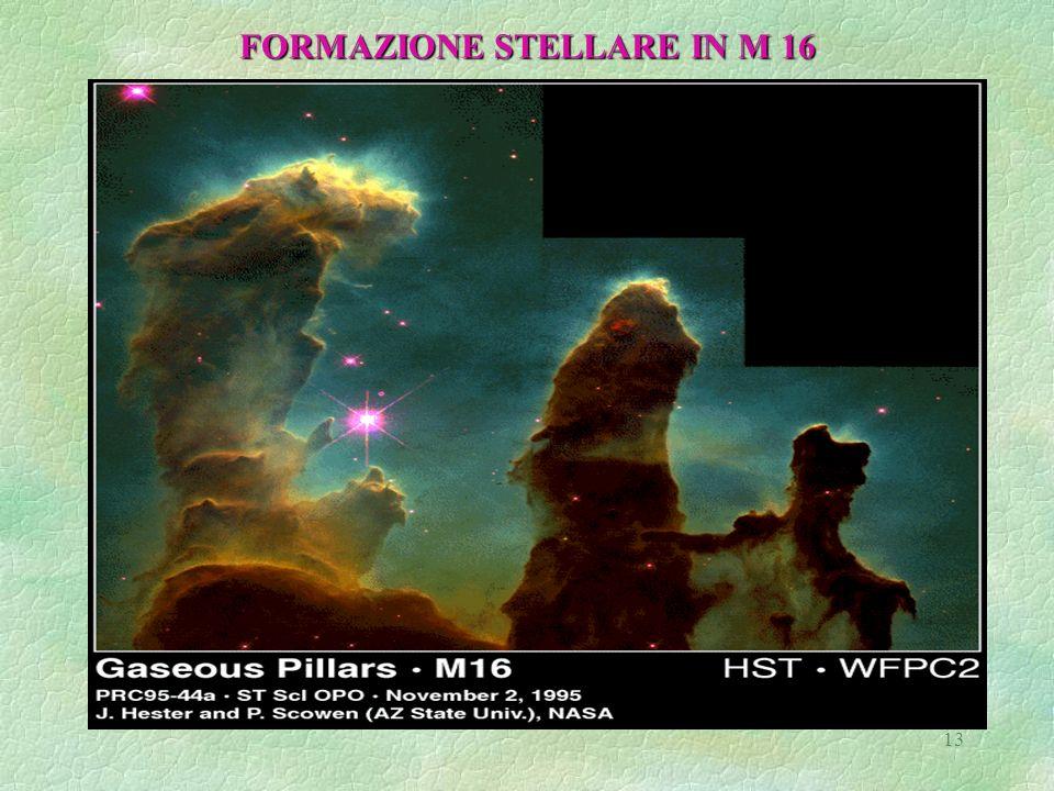 13 FORMAZIONE STELLARE IN M 16